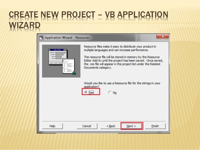 Create project vb
