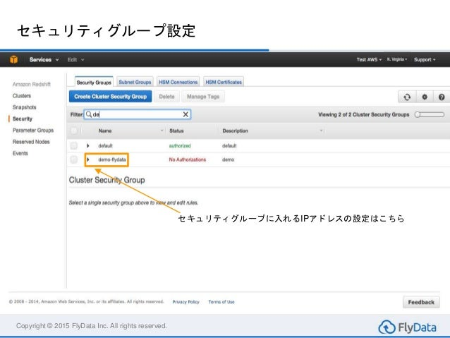 amazon redshift create an amazon redshift cluster