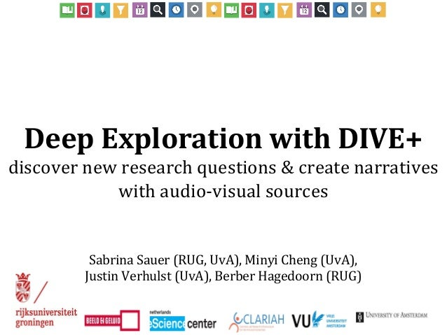 Deep Exploration with DIVE+ discover new research questions & create narratives with audio-visual sources Sabrina Sauer (R...