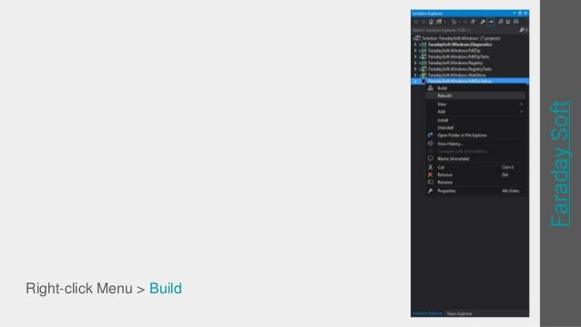 Create single installer file