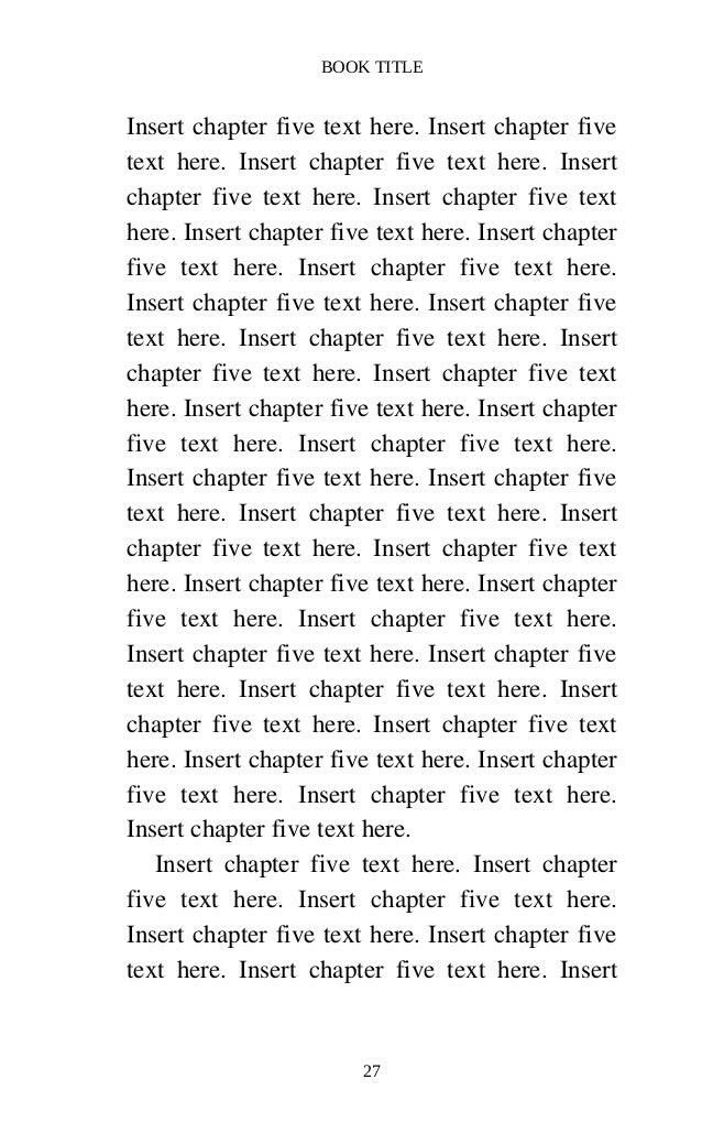 CreateSpace Formatted 5 x 8 eBook Template