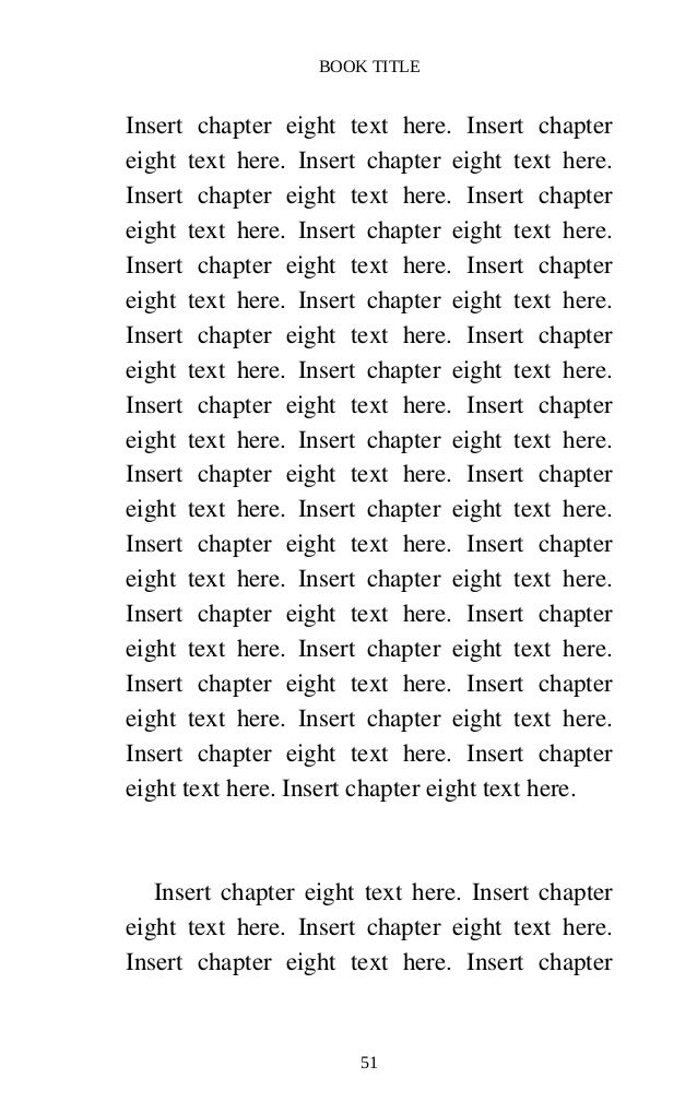 Createspace formatted 5 x 8 ebook template for Createspace formatted template