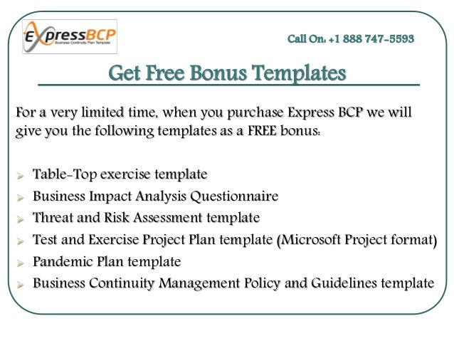 Create Your Own Business Continuity Plan Template – Bonus Plan Template