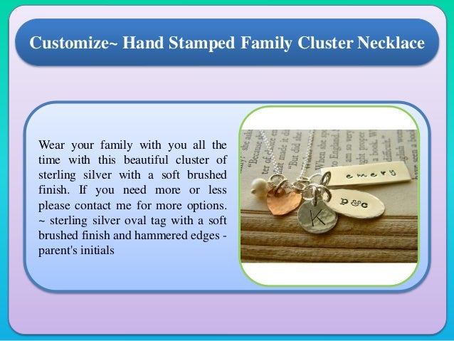 Wear your family with you all the time with this beautiful cluster of sterling silver with a soft brushed finish. If you n...