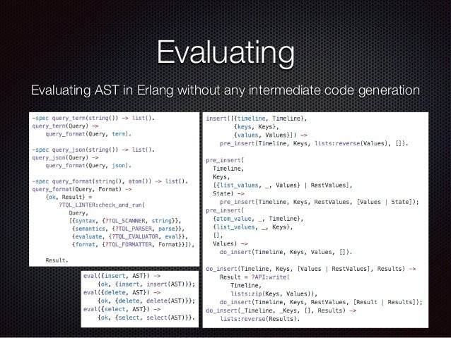 Evaluating Evaluating AST in Erlang without any intermediate code generation
