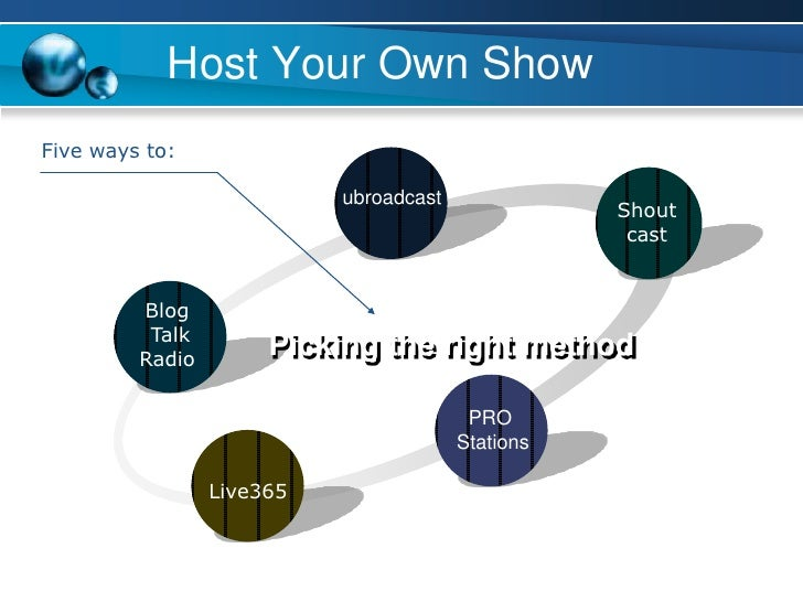 how to start your own radio show