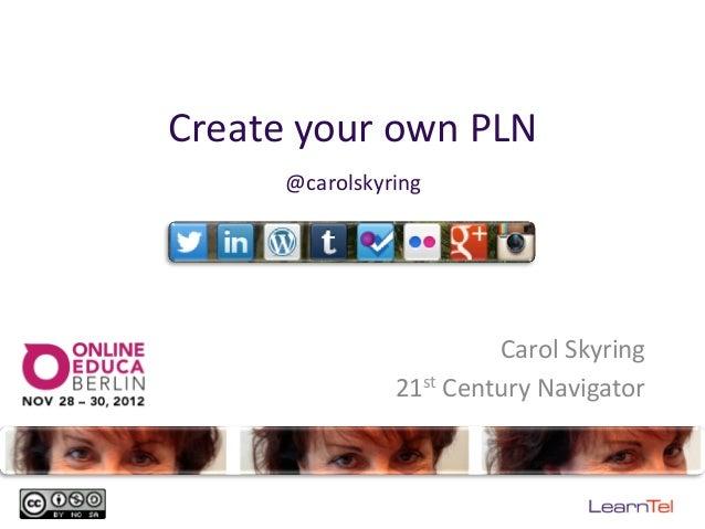 Create your own PLN          @carolskyring                                   Carol Skyring                  ...