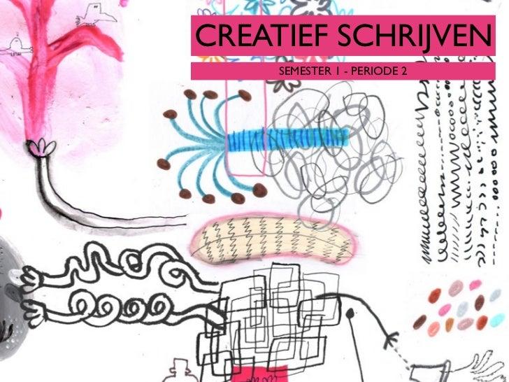 New Creatief Schrijven College 1 #LD82