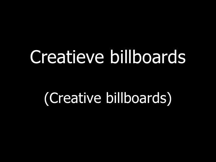 Creatieve billboards (Creative billboards)