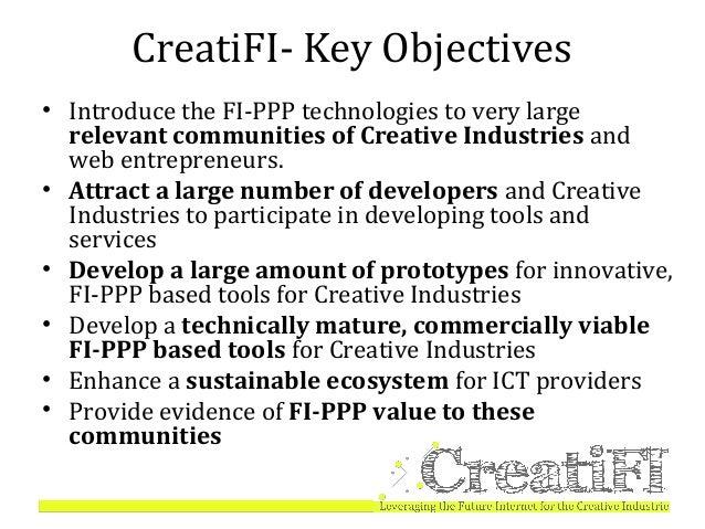 Creati-FI, Leveraging the Future Internet for Creative Industries Slide 3