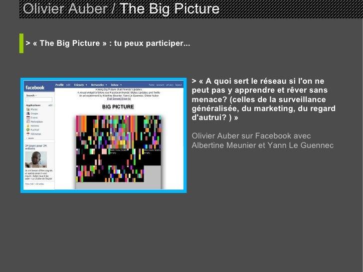 Olivier Auber /  The Big Picture   > «The Big Picture» : tu peux participer... >  «A quoi sert le réseau si l'on ne peu...