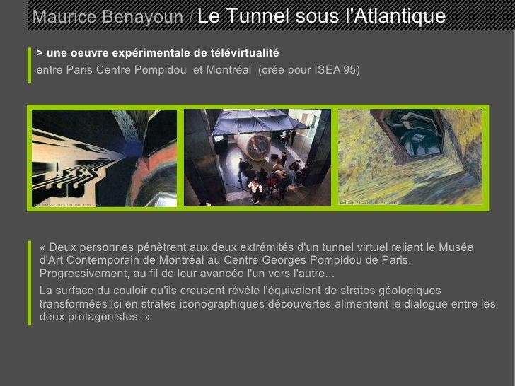 Maurice Benayoun   /   Le Tunnel sous l'Atlantique  > une oeuvre expérimentale de télévirtualité entre Paris Centre Pompid...
