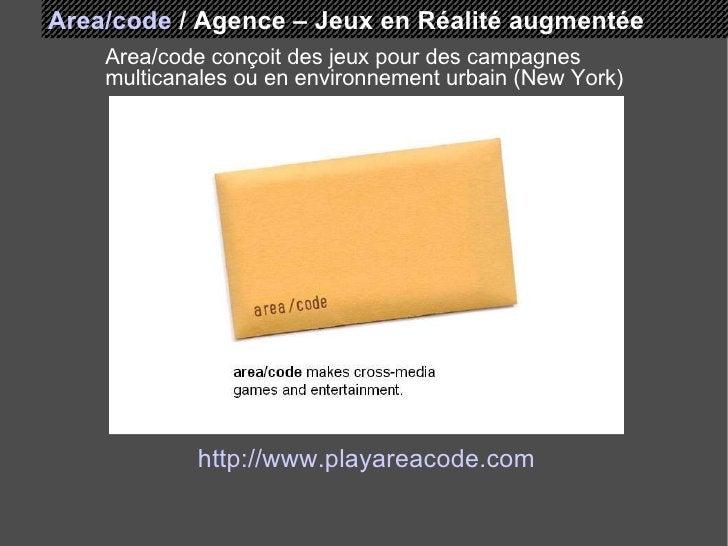 Area/code   /   Agence – Jeux en Réalité augmentée Area/code conçoit des jeux pour des campagnes multicanales ou en enviro...