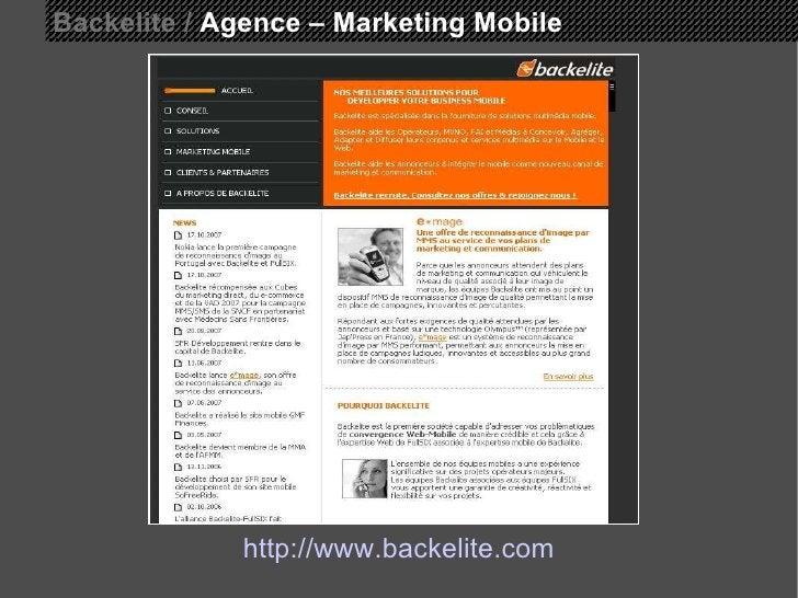 Backelite /  Agence – Marketing Mobile http://www.backelite.com