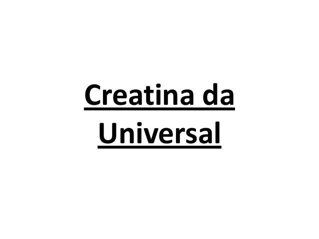 Creatina da Universal