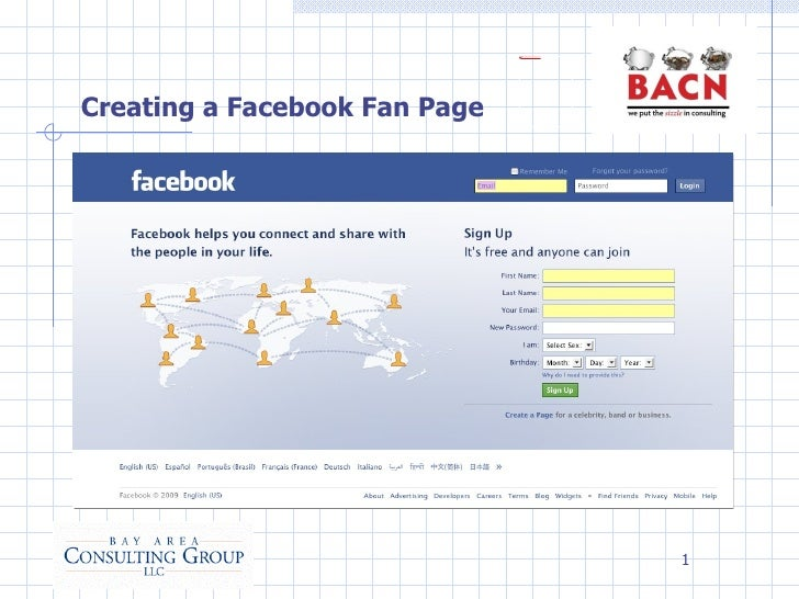 Creating a Facebook Fan Page