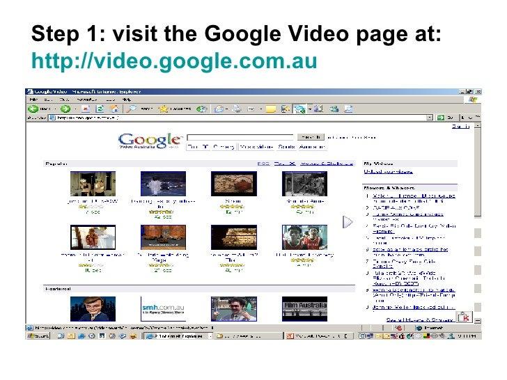 Creating A Google Video Account Slide 2
