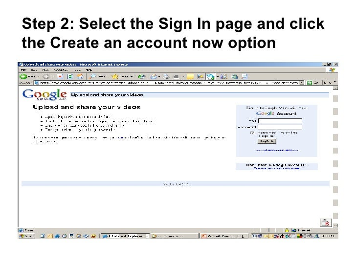 Creating A Google Video Account Slide 3