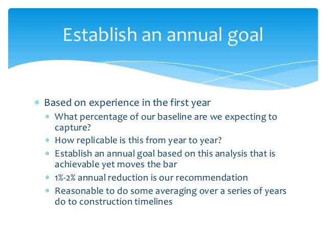  Based on experience in the first year  What percentage of our baseline are we expecting to capture?  How replicable is...