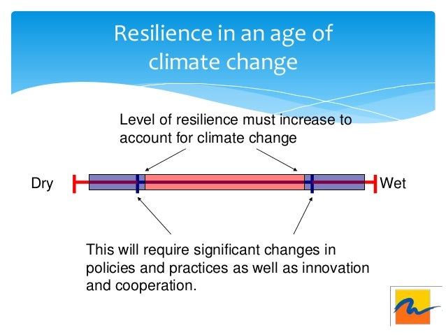 Resilience in an age of climate change Dry Wet This will require significant changes in policies and practices as well as ...