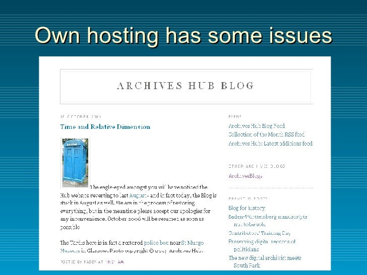 Own hosting has some issues