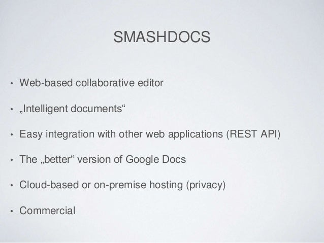 Creating Content Together - Plone Integration with SMASHDOCs Slide 2