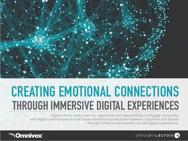 CREATING EMOTIONAL CONNECTIONS THROUGH IMMERSIVE DIGITAL EXPERIENCES Organizations today have an opportunity and responsib...