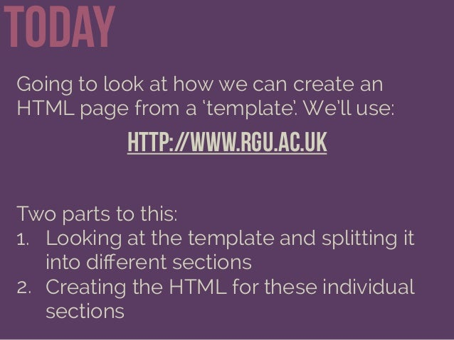 Creating HTML Pages Slide 2