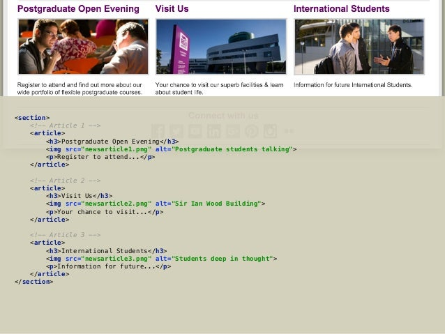 Creating HTML Pages