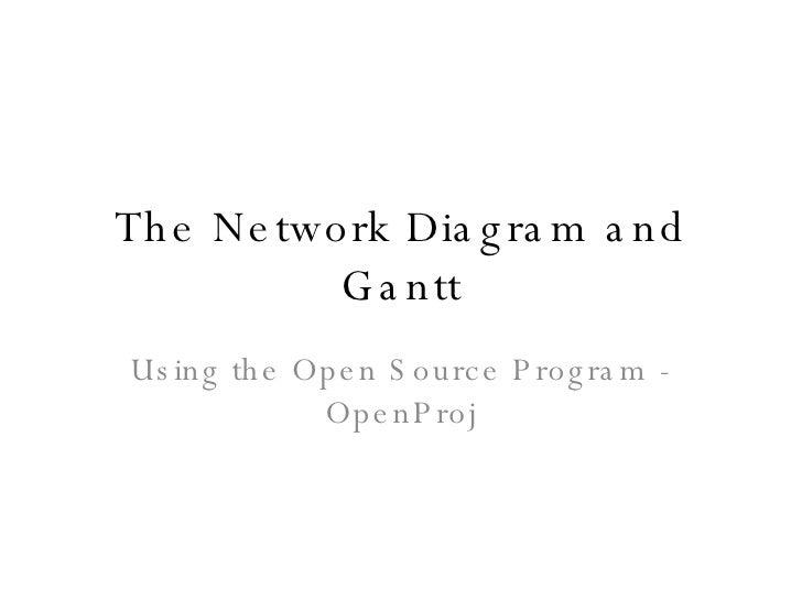 The Network Diagram and Gantt Using the Open Source Program - OpenProj