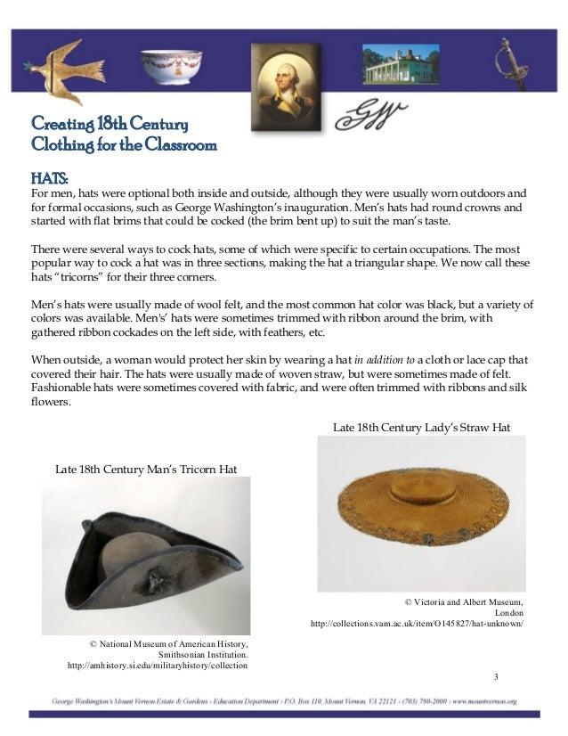 Creating 18th Century Clothing