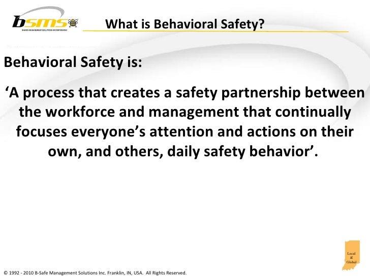 Creating a Behavioral Safety Process Slide 2
