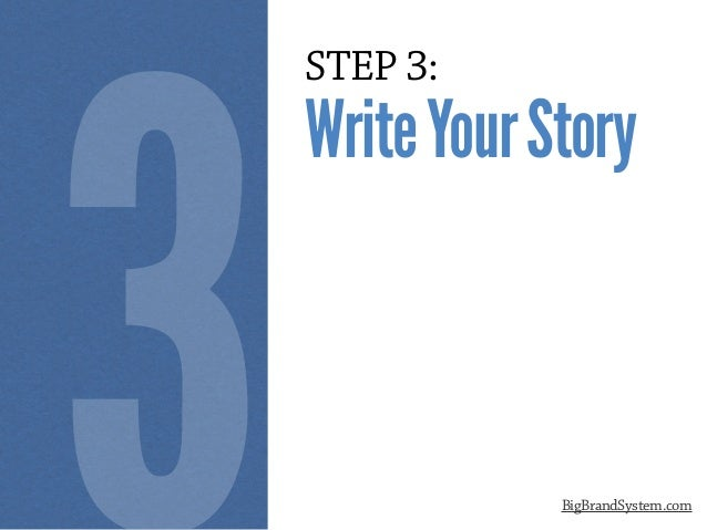 STEP 3: WriteYourStory BigBrandSystem.com 3