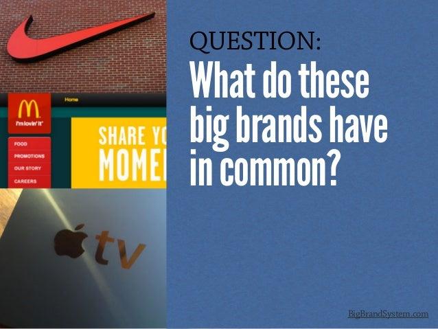 QUESTION: Whatdothese bigbrandshave incommon? BigBrandSystem.com