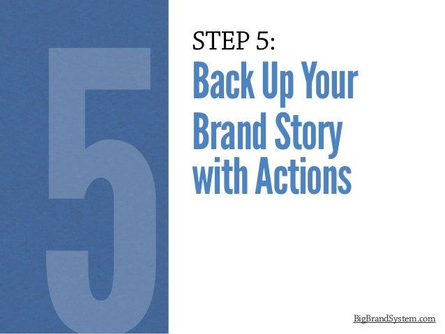 STEP 5: BackUpYour BrandStory withActions BigBrandSystem.com 5