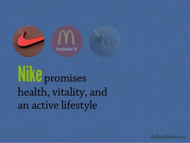 Nikepromises health, vitality, and an active lifestyle BigBrandSystem.com
