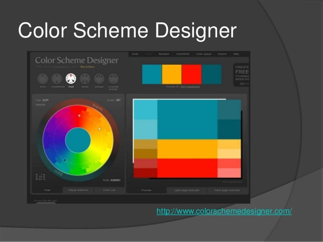 color scheme designer - Color Scheme Designercom
