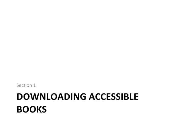 Creating Accessible Books Slide 2
