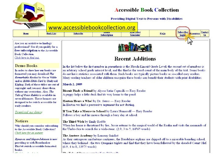 Creating Accessible Books Slide 3