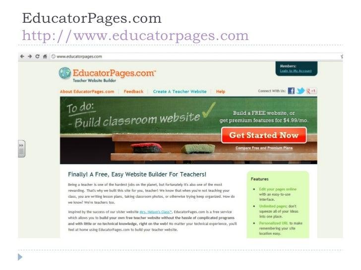 free teacher website builder