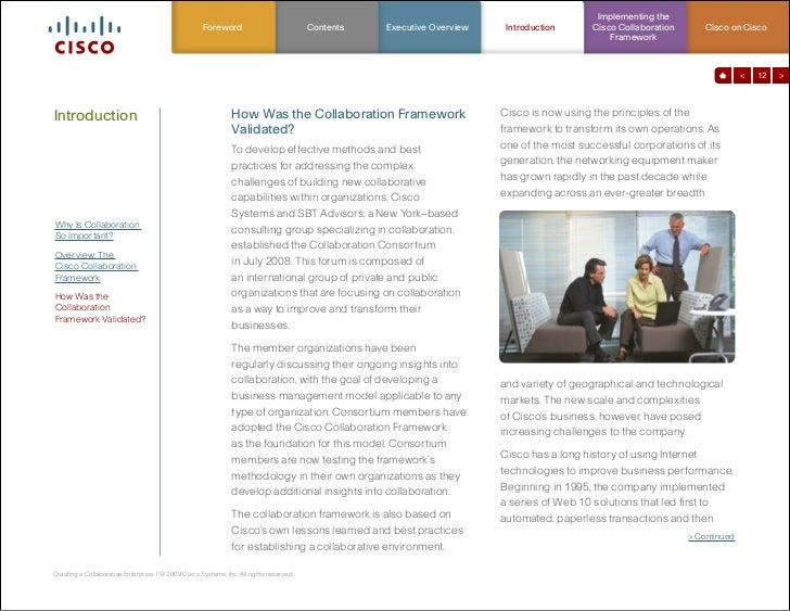 cisco systems develops a collaborative approch