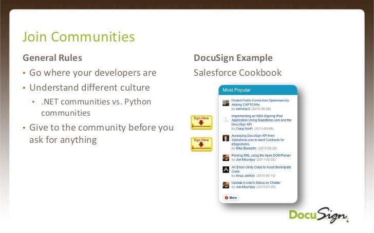 Tools and Documentation<br />www.DocuSign.com/DevCenter<br />