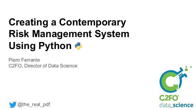 Creating a contemporary risk management system using