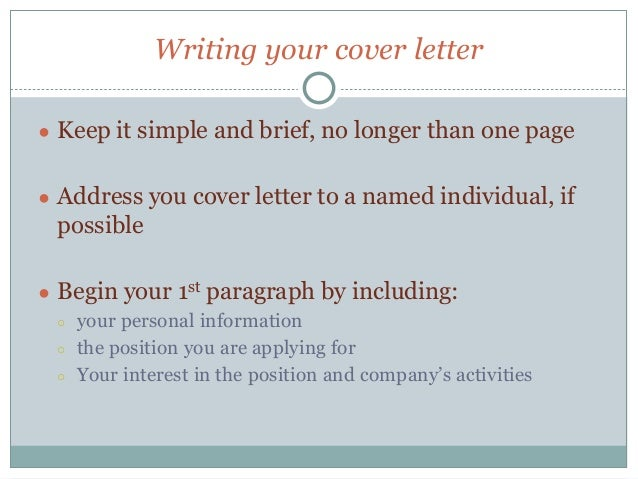 communication skills 4 writing your cover letter - Constructing A Cover Letter