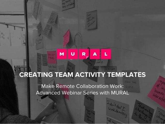 Creating Team Activity Template in MURAL Slide 1