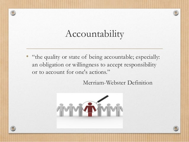 Image Result For Accountability Definition