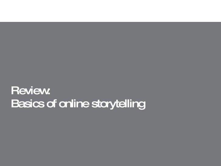 Review:  Basics of online storytelling
