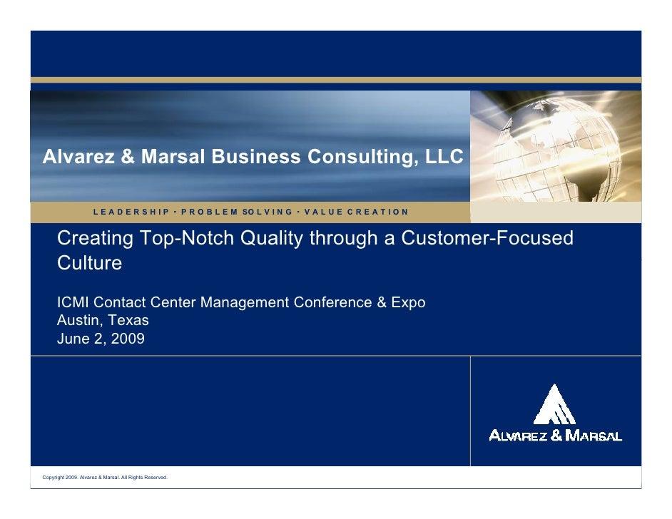 Alvarez & Marsal Business Consulting, LLC                       LEADERSHIP                          P R O B L E M SO L V I...