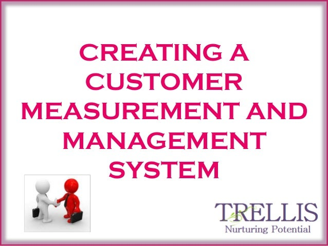 CREATING A CUSTOMER MEASUREMENT AND MANAGEMENT SYSTEM 1