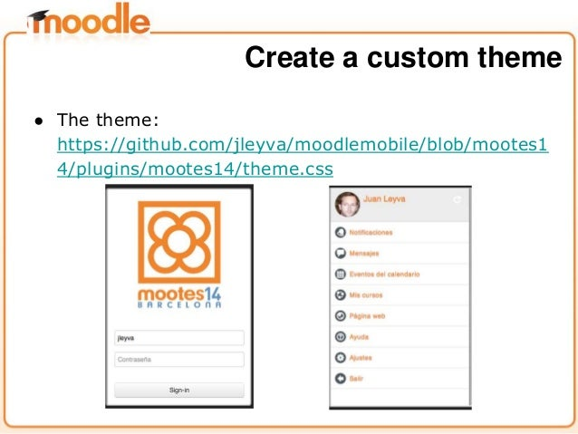creating a custom moodle mobile app - moodlemoot spain 2014, Presentation templates